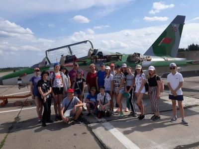 Первый день оздоровительного лагеря с круглосуточным пребыванием «Юный краевед» начался с экскурсии в авиачасть в г.Лида.