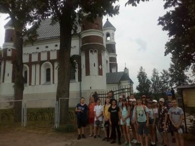 Учащиеся гимназии продолжили изучение архитектурных памятников Гродненской области, в рамках её 75-летия образования.