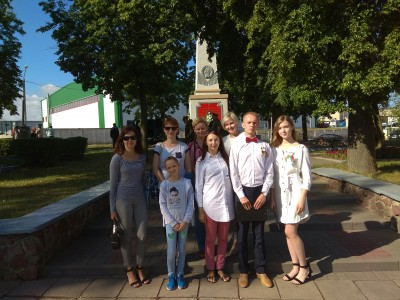 Педагогический и ученический коллектив гимназии принял участие в митинге по ул.Победы, посвященному Дню Независимости Республики Беларусь.